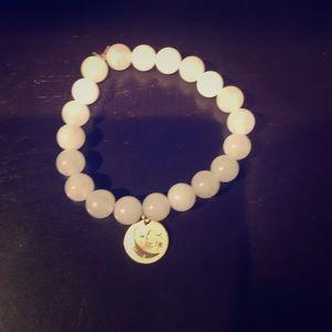 Jewelry - Beaded bracelet with diamond 14k gold charm